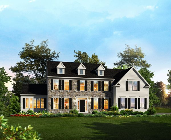 Hampton II Floor Plan with Sunroom by Classic Homes
