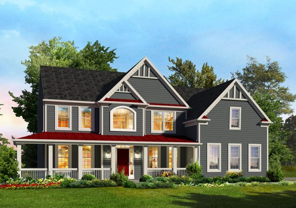 Monticello Elevation by Classic Homes