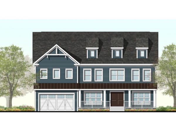 Radford Elevation with Full Porch By Classic Homes